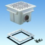 Квадратный донный слив из ABS-пластика для пленочного бассейна